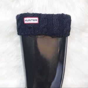 Hunter fleece tall socks w/ knitted top
